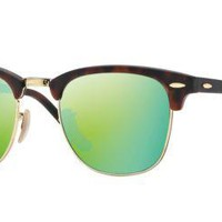 Cheap Ray Ban RB3016 114519 51M Sand Havana/Gold/Grey Mirror Green outlet