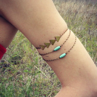 triangle turquoise armlet