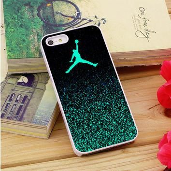 Nike Air Jordan Jump Mint Glitter iPhone 5|5S|5C Case Auroid