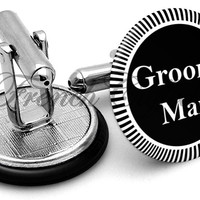 Design #3 Groomsman Wedding Cufflinks
