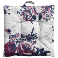 H&M - Floral Seat Cushion - Light gray