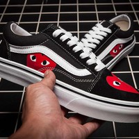 Trendsetter Vans x CDG PLAY  Canvas Old Skool Flats Sneakers Sport Shoes