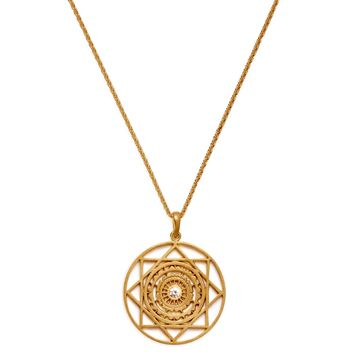 Gold Handwerk Balance Mandala Necklace