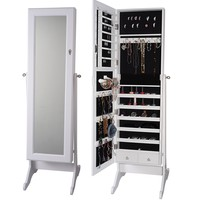 Premium White Cheval Mirror Jewelry Cabinet Armoire Box Stand Organizer Full-size Storage Case | Overstock.com Shopping - The Best Deals on Bedroom Accents