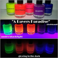 A Ravers Paradise Neon Glow in the Dark Polish Collection