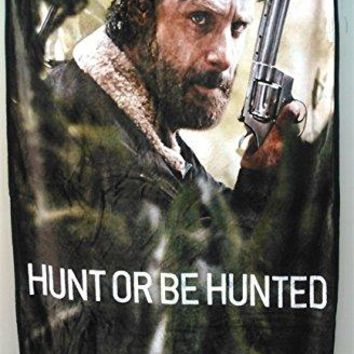 """AMC The Walking Dead Rick Grimes HUNT OR BE HUNTED Wall Hanging Tapestry/Fleece Throw Blankets, 45""""x60"""""""