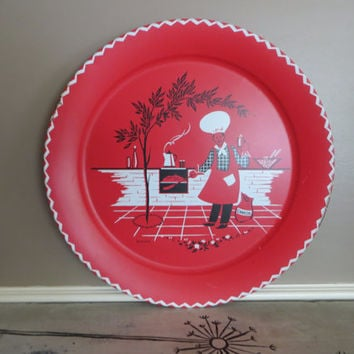 Large Tray Metal Tray Red Tray BIG Backyard BBQ Tray Party Tray Fourth of July Serving Platter Hamburger Tray Gift for Dad Fathers Day Gift