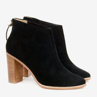 Leather heeled ankle boots - Jet | Shoes | Ted Baker