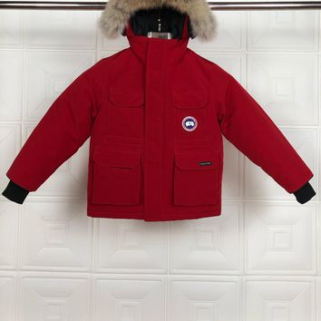 Canada Goose Children's Wear Baby Down Coat Cardigan Jacket Windbreaker