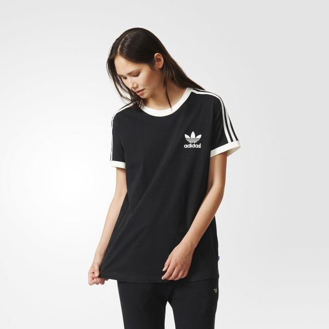 adidas 3 stripes tee black adidas uk from. Black Bedroom Furniture Sets. Home Design Ideas