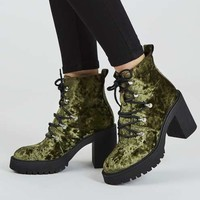 MOTOR Heeled Hiker Boots - View All Boots - Shoes