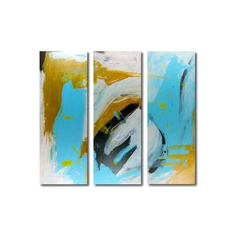 """'April 038' - 36"""" X 30"""" Original Abstract  Art. Free-shipping within USA & 30 day return Policy."""
