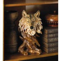 Detailed Magnificent Wolf Bust