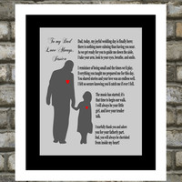 Personalized Wedding Gift for Parents. Father Of The Bride. Thank You. Unique Gift. 8x10 ANY COLOR