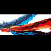 """Abstract Fluid Acrylic Painting ContemporaryTextured Original Large Wall Art Painting """" wanderlust """" by Holly Anderson SALE + FREE SHIPPING"""