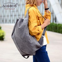 Aosbos Multifunction Canvas Gym Bag Women Sports Bag Backpack for Fitness Outdoor Travel Handbags Durable Training Shoulder Bags