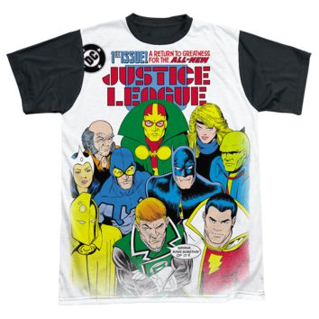 Mens The Justice League Return to Greatness Sublimation Tee Shirt
