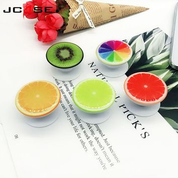 Round  Fruit Finger Phone Holder Desk Stand Grip Pop Mount For iphone 5 5s Samsung Phone Stand Ring Expanding Stand and Grip