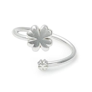 Alex and Ani Four Leaf Clover Ring Wrap - Sterling Silver
