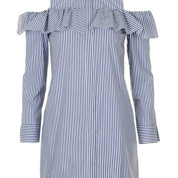 Poplin Ruffle Shirt Dress | Topshop