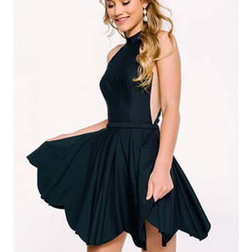 Jovani 42787 Halter Top Fit and Flare Homecoming Dress
