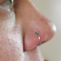 Nose Ring Turquoise  Body Jewlery Choose Your Color 20ga