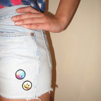 London Loves LA — Peace + Happiness Jean Shorts