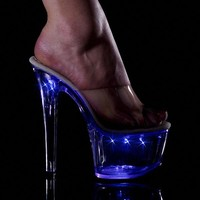 6 Inch Flashing LED Heels Sandal Style