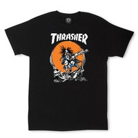 ONETOW Thrasher Outlaw T-Shirt By Pushead In Black