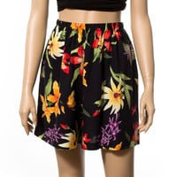 Tropical floral print high waist shorts FREE SHIPPING USA