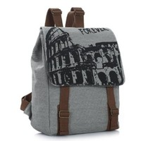 Heartybay®Vintage England College Fashion Canvas Backpack with Forever printing