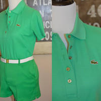 Vintage 1970s Lacoste Haymaker Polo Shirt and Shorts - Green - Preppy Fresh