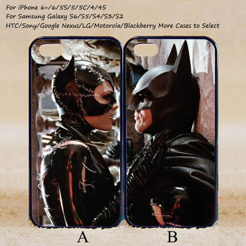Catwoman and Batman Couple Case,Custom Case,iPhone 6+/6/5/5S/5C/4S/4