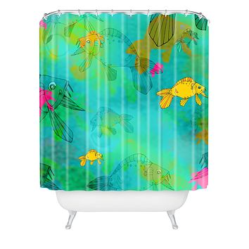 Aimee St Hill Fish Shower Curtain
