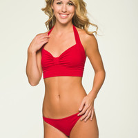 Red Sleepwear Lingerie- Retro Sleep Bra Top - Medium