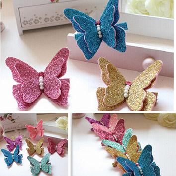 Cute butterfly baby girl hair clips (5pcs/lot)