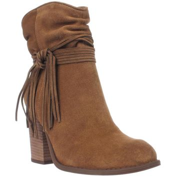 Jessica Simpson Sesley Wrapped Slouch Ankle Booties, Honey Brown, 8 US