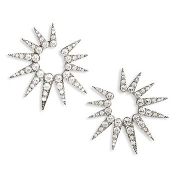 Oscar de la Renta Small Crystal Sea Urchin Earrings | Nordstrom