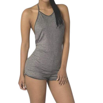 Summer Sleeveless Cotton Bandage Rompers