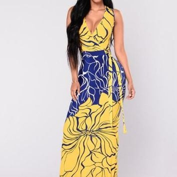 """BODYCON"" Women's Maxi Dress Spring Print"