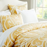 CAILIN SCROLL DUVET COVER & SHAM