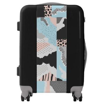 Modern Abstract Carry On Spinner Suitcase