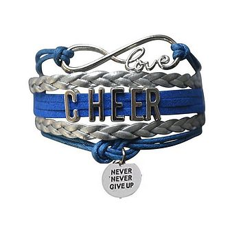 Cheer Never Give Up Bracelet - 19 Team Colors