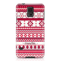 iPhone 6s, Samsung Galaxy S6, iPhone Case, Phone Case, Personalize, Red and White, Phone Cover, Fair Isle Pattern, Samsung Phone Case