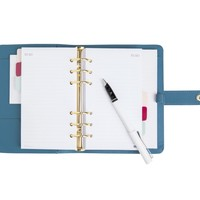 TEXTURED LEATHER PERSONAL PLANNER MEDIUM: OCEAN