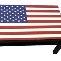 American Flag Coffee Table Made With Glaze Coat Gloss