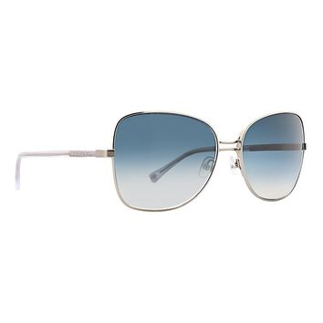 Trina Turk - Solta 58mm Silver Sunglasses / Blue Gradient Lenses
