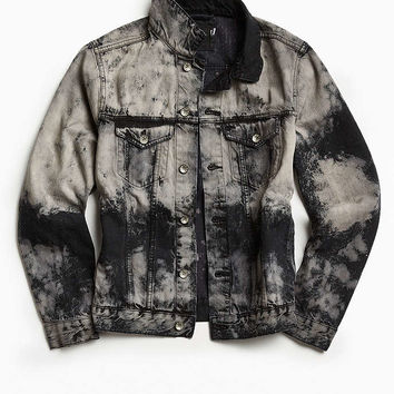 DIY BDG Bleached Denim Trucker Jacket - Urban Outfitters