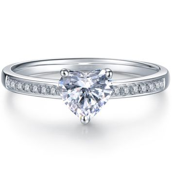 2018 new women's crystal with diamond ring jewelry F0507-1