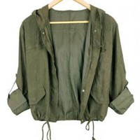Short Hooded Jacket ST006G